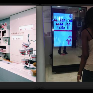 Le jeu #ClarinsChristmas sur le Digital Mirror