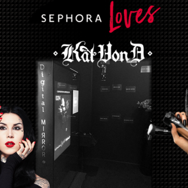 Digital Mirror pour le lancement de Kat Von D en France
