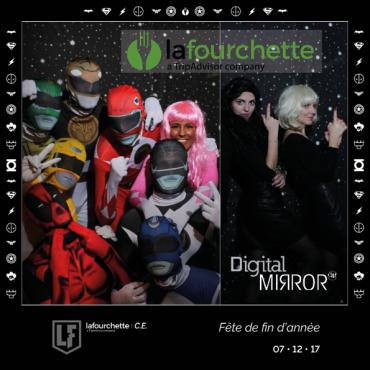 Digital Mirror à la soirée de fin d'année de La Fourchette