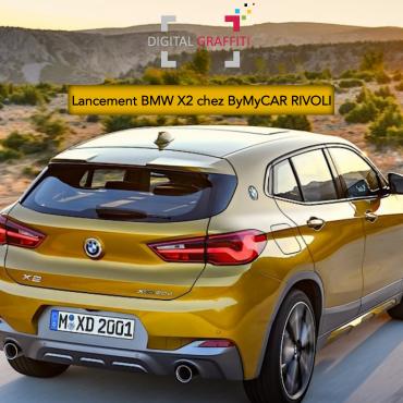 Digital Graffiti au lancement du BMW X2