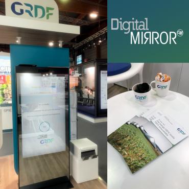 Le Digital Mirror pour sensibiliser aux déchets verts