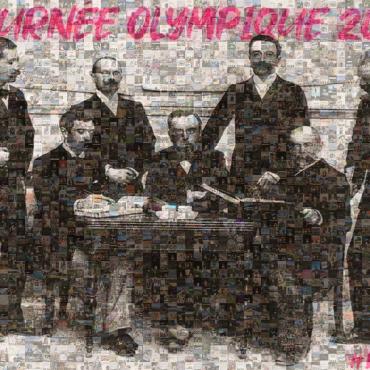 UNE MOSAIQUE DIGITALE VIRTUELLE À DISTANCE POUR LA JOURNEE OLYMPIQUE